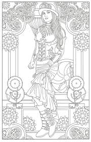 Steampunk Adult Coloring Artwork By Marty Noble Creative Haven Davlin Publishing