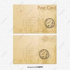 O Carimbo Postal Retro Vector De Material Uma Carta De