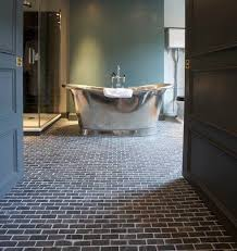 Brick Floor Tile Classic And Elegant Style In Modern Home Flooring Bathroom Design