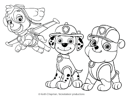 Paw Patrol Coloring Pages Rubble Sheets With Print