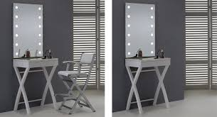makeup desk with lights and mirror cantoni