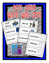 Post Office Writing Theme Word Wall Cards