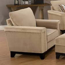Boscovs Sleeper Sofas by Opulence Taupe Velvet Sofa Set Nailhead Dcg Stores