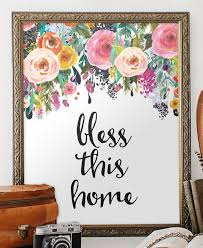 Bless This Home Print Printable Wall Art By TwoBrushesDesigns