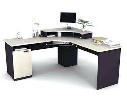 desk glass and metal corner computer desk white techni mobili