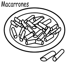 macaroni and cheese free coloring pages