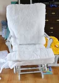 Glider Rocking Chair Cushions For Nursery by Update A Nursery Glider Rocking Chair The Diy Mommy
