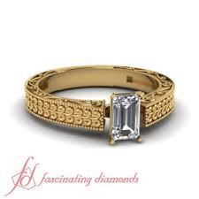 Image Is Loading 3 4 Carat Solitaire Vintage Style Diamond Rings