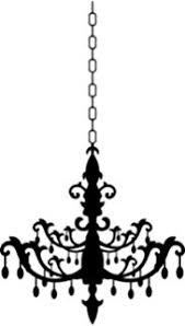 Lot 26 Studio Burnish Chandelier Vinyl Wall Decal 16 X 24 Inches