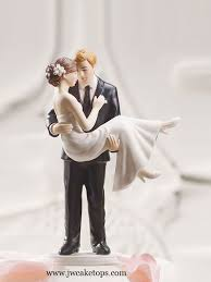 Wedding Cake Top Porcelain Bride And Groom Topper Swept Up In His Arms Figurines Tops
