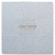 thassos white 1 inch hexagon mosaic tile polished marble from
