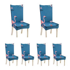 BuyBowie 6 Pcs Soft Short Dining Room Chair Covers With Printed Pattern,  Chair Protector Seat Slipcover For Hotel,Dining Room,Ceremony,Banquet  Wedding ... Amazoncom Lovwy Polyester Stretch Spandex Slipcover Chair Decorative Covers Efavormart 10pcs Silky Satin Universal Fits All Us 464 Cover Ding Seat For Wedding Party Decoration Removable Elastic Slipcover24in 20 Pc Ivory Folding Reception Homdox 100pcs White Spandexlycra Metal Plastic For Banquet 100pcs Polyester Spandex Whosale Fitted Cocktail Table Tablecloth Buy Tablecocktail Covertable Buybowie 4 Pcs Washable Slipcovers High Chairs Protective Print Cushion Decor 1pcs Hot Item Supplies Lycra Event Xymbc02