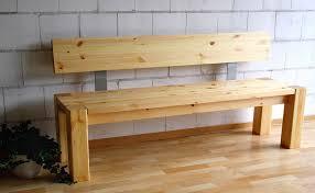sitzbank 180cm mit rückenlehne holzbank lehne vollholz kiefer massiv gelaugt geölt