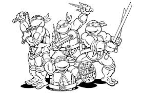Teenage Ninja Turtles Coloring Pages 15 Nickelodeon Mutant Page Free
