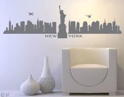 wall decals stickers wandtattoo new york skyline amerika usa wolkenkratzer wohnzimmer deko uss053 home furniture diy itkart org