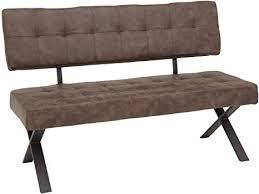 lifestyle4living esszimmerbank mit rückenlehne braun 2 sitzer vintage look rückenecht sitzbank für esszimmer mit bequemer polsterung x gestell