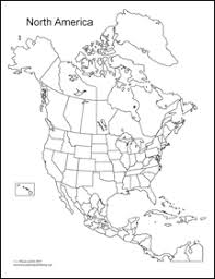 World Regional Map North America Blank