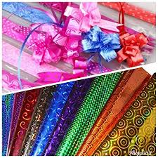 E Shopping Glossy Plastic Gift Wrappers Wrapping Paper Coloured