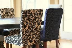 Dining Room Chair Slipcovers Pattern Inspiration Ideas Decor Amazing Patterned Covers She Had Been Holding Onto The Damask Fabric For A