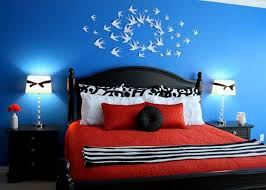 Cool Wall ARt And Craft For Dazzling Blue Bedroom