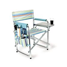 Folding Beach Chairs At Bjs by Picnic Time Folding Sports Chair With Side Table Chair Design Idea