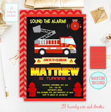 Fireman Birthday Invitation, Firetruck Birthday Invitation ... Fire Truck Firefighter Birthday Party Invitation Cards Invitations Firetruck Themed With Free Printables How To Nest Book Theme Birthday Invitation Printable Party Invite Truck And Dalataian 25 Incredible Pattern In Excess Of Free Printable Image Collections 48ct Flaming Diecut Foldover By Creative Nico Lala