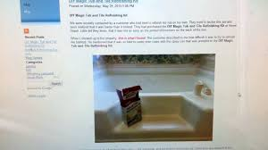 Bathtub Refinishing Kit Home Depot by Diy Magic Tub And Tile Refinishing Kit Review Youtube