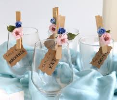 Flower Petal Clothespin Place Cards