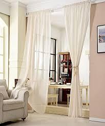 woltu vh5859cm gardinen transparent mit kräuselband leinen optik vorhang stores voile fensterschal dekoschal für wohnzimmer kinderzimmer