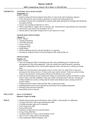 Download News Intern Resume Sample As Image File