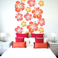 Flower Wall Designs For A Bedroom Modest And Throughout