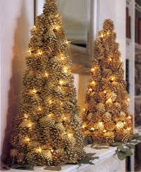 Lighted Pinecone Trees