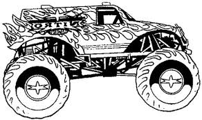 Graceful Coloring Pages For Boys Monster Truck Printable