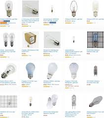 light bulbs for microwave refrigerator oven range hoods
