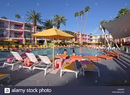 100 Sagauro Palm Springs Poolside At The Saguaro Stock Photo 153636052