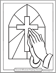 40 Rosary Coloring Pages The Mysteries Of Printable Praying Hands
