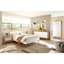 lomadox schlafzimmer jugendzimmer komplettset mainz 61 im scandi look weiß matt mit eiche riviera
