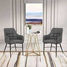 shinawood esszimmerstühle 2er set retro sessel pu leder