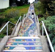 16th Avenue Tiled Steps In San Francisco by Moraga Street Tiled Steps Hiddensf Com