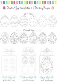 Printable Easter Egg Coloring Pages Templates