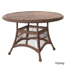dining room brilliant round resin wicker table free shipping today