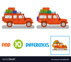 100 Find A Truck Find 10 Differences Royalty Free Vector Image