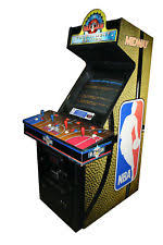 4 Player Arcade Cabinet Dimensions by Nba Jam Arcade Ebay