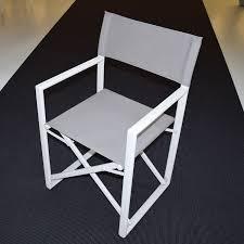 siege metteur en fauteuil metteur en scène alu blanc textilène gris visconti