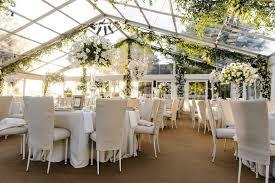 Plexiglass Tent Wedding With Neutral Color Palette