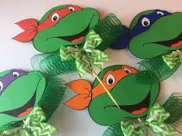 Ninja Turtle Decorations Ideas by 6 Teenage Mutant Ninja Turtles Centerpiece