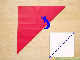 Making The Diagonal Folds Image Titled Fold A Paper Rose Step 14