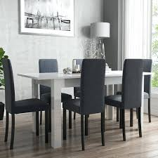 100 White Gloss Extending Dining Table And Chairs Delectable Kitchen High
