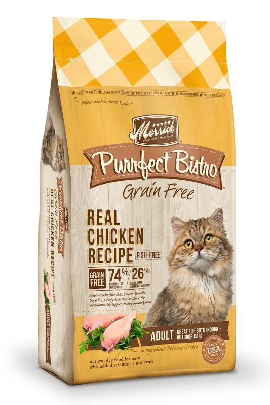 Merrick Purrfect Bistro Grain Free Real Chicken & Sweet Potato Recipe Dry Cat Food, 4-lb