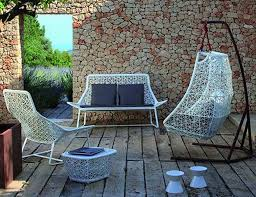 Astounding Furniture For Home Decoration With Colored Wicker Interesting Outdoor Living Room Using